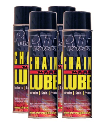 Pit Posse PP3229-4 4 15Oz Cans Of Chain And Cable Lube Wax Motorcycle ATV Dirt Bike Made In USA