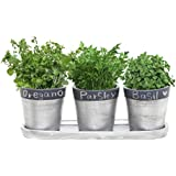 3 Inch Decorative Black U0026 Silver Tone Ceramic Plant Flower Planter Pots  With Saucer   Set Of 3