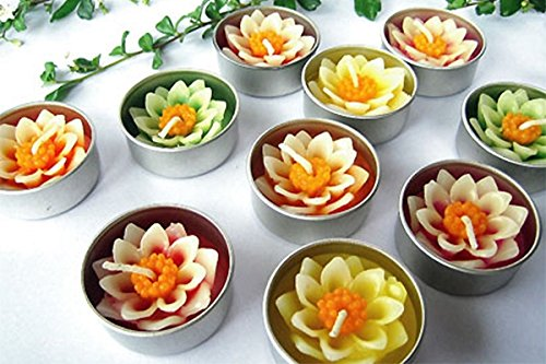 Candles flowers Lotus flowers 10 pcs/set