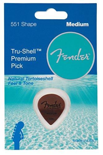 Fender 551 Shape Picks, Tru-Shell, Medium for electric guitar, acoustic guitar, mandolin, and bass