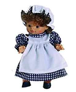 Paola Reina - Paolita, muñeca bebé con traje de cocinera, 22 cm (00600)