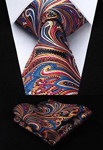 Elegant Men's T3d amp; 3 Lot Tie PCS HISDERN Necktie Square Silk Multiple Set Sets Pocket Classic 12 wqBIXnU