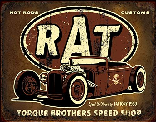 (Rat Hot Rods Torque Brothers Speed Shop Tin Sign 13 x 16in)