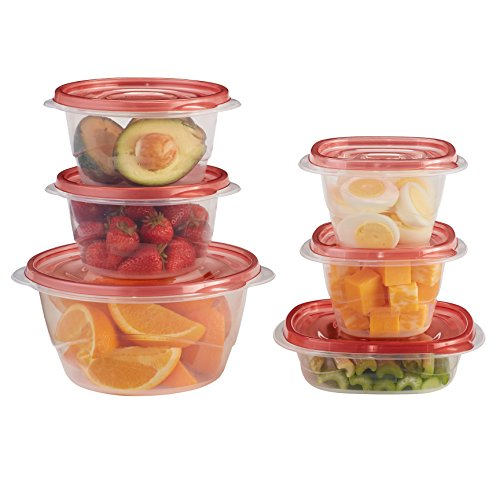 Large Product Image of Rubbermaid 1949248  TakeAlongs Assorted Food Storage Containers, 40-Piece Set, Racer Red