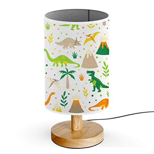 ArtLights - Wood Base Decoration Desk / Table / Bedside Lamp [ Happy Kids Dinosaur ]