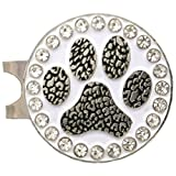 Giggle Golf Bling Paw Print Golf Ball Marker With A Standard Hat Clip