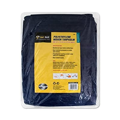 Tool Tech 20 x 15-inch Tarpaulin - Blue by Tool Tech
