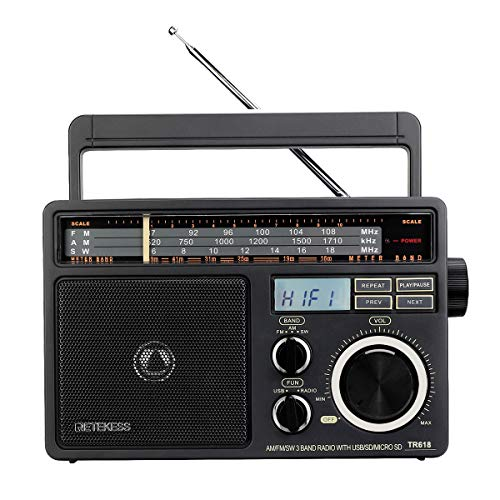 Retekess TR618 Old Man Radio with FM AM SW USB TF SD Slot