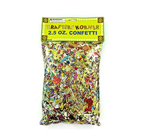 Jumbo craft confetti pack - Case of 36 by krafters korner
