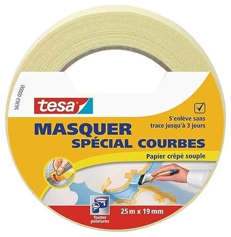 Tesa 56362-00003-02 coprire rullo adesivo per linee curve, Beige, 25 m x 19 mm 56363-00000-00