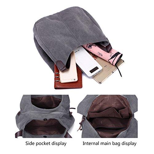 Shoulder Cotton Purses White Totes Bag Alovhad Shoulder Bags Hobo Canvas Fashion Women Canvas Handbags q7COnPwOEX