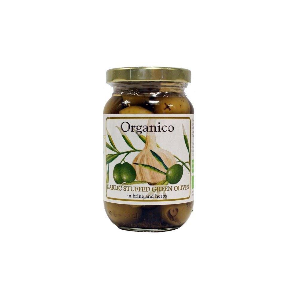 Organico Organic Garlic Stuffed Olives (240g) - Pack of 6