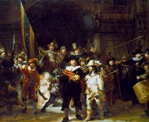 Posterazzi The Night Watch 1642 Rembrandt Harmensz van Rijn (1606-1669/Dutch) Oil on canvas Rijksmuseum Amsterdam Poster Print (24 x 36)