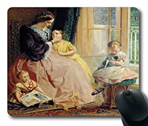 """Painting Art Mrs Hicks Mary Rosa And Elgar Oblong Mouse Pads/ Standard Rectangle Gaming Mousepad in 9""""*7 by ruishername"""
