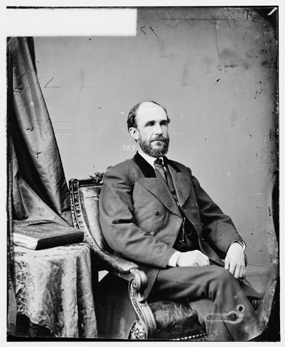 Nebraska Portrait Picture Frame (Photo: Honorable Phineas Warren Hitchcock,Nebraska,NE,politicians,portraits,men,1860)