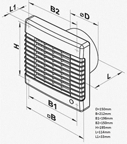 150 MA L Turbo Vents Badl/üfter mit Platte 150mm 345cbm