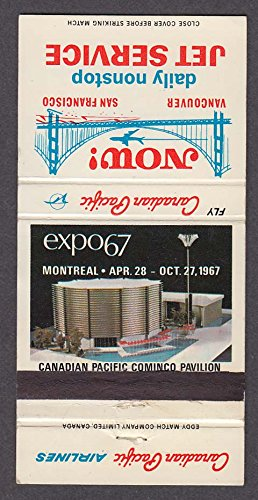 Expo 67 Montreal Canadian Pacific Airlines Cominco Pavilion matchcover