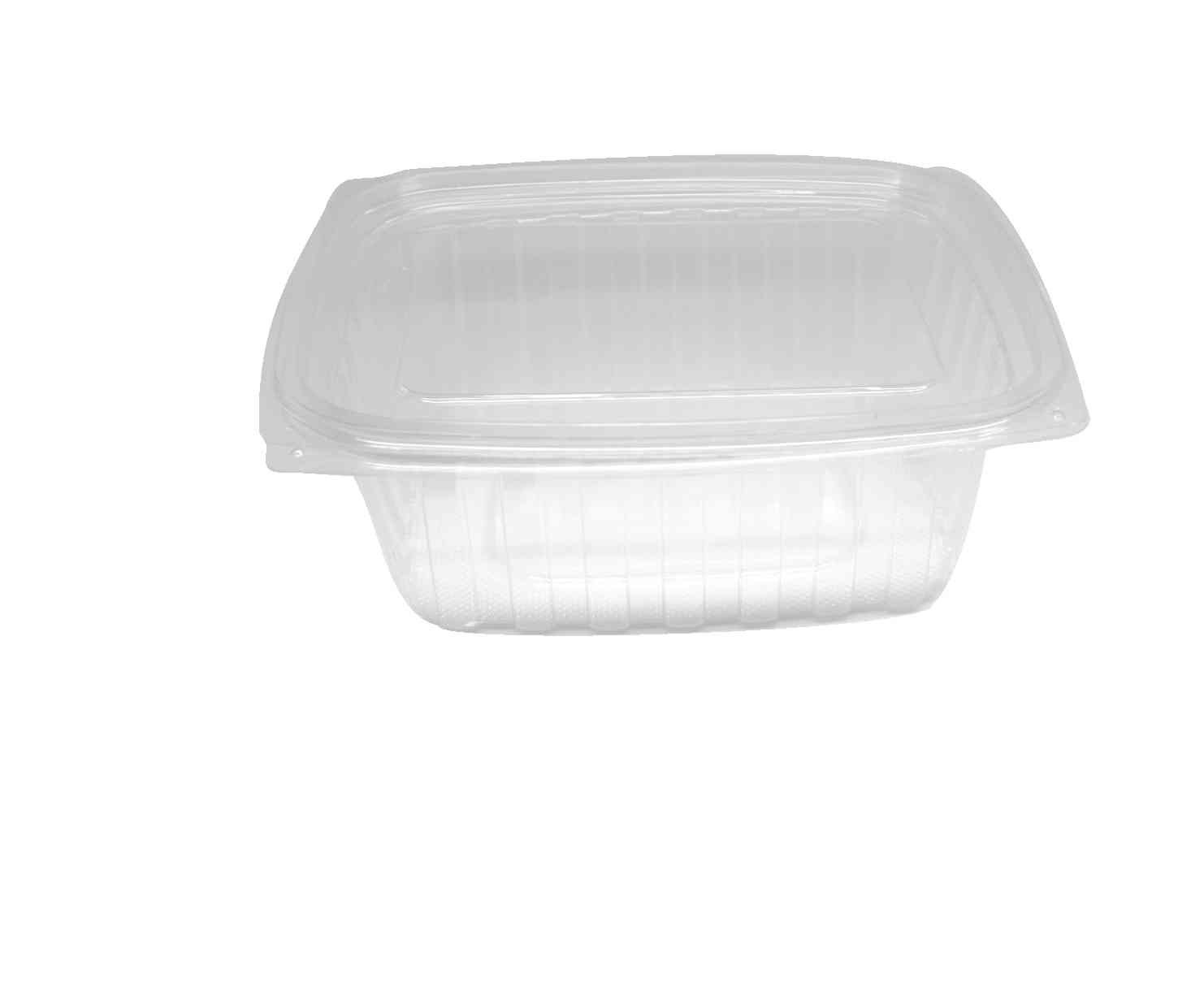 Choice-Pac L1D-2064 Polyethylene Terephthalate Rectangular 2-Piece Cold Deli Container, 9