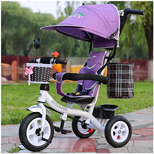 YINGH - Tricycle Trike for Children or Baby, Push Rod can be Adjusted and Disassembled, Extended Awning and Comfortable seat, Stylish and Practical, 1-6 Years Old