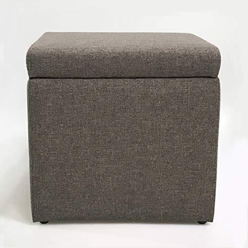 gris Foncé 33cm33cm Tabouret de stockage de grande capacité, Tabouret de rangeHommest en coton et coton multi-fonction. Boîte de rangeHommest pour coffre simple et créative pouvant s'asseoir.