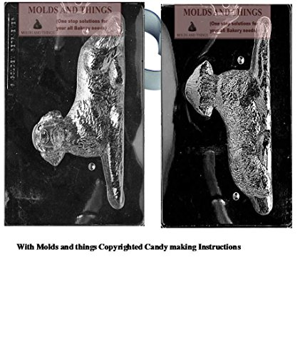 LABRADOR RETRIEVER Chocolate candy mold, Dog mold with copywrited molding Instructions ()