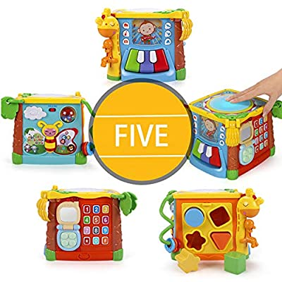 MzekiR 5 in 1 Music Drum Activity Cube Toy : Baby