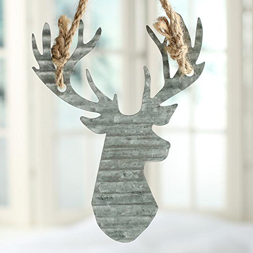 - Factory Direct Craft Group of 6 Galvanized Corrugated Metal Reindeer Ornaments for Holiday Crafting and Embellishing