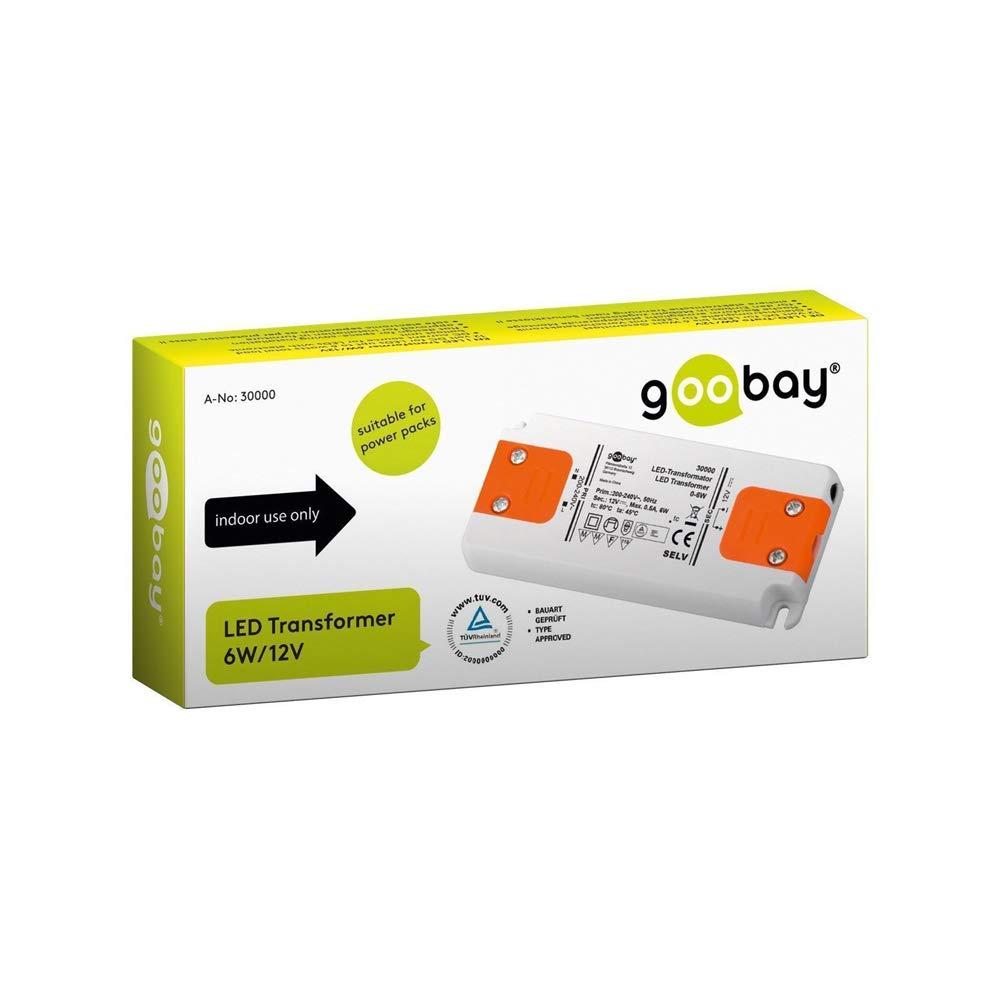 1 St/ück 30633 Goobay LED Trafo 24V DC f/ür 0,5 bis 15 Watt LED-Lampen