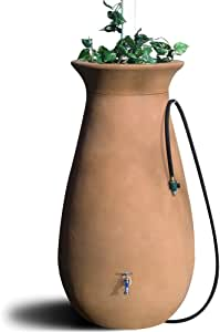 Algreen 83001 Cascata Deluxe Rain Barrel and Watering System, 65 Gallons (Discontinued by Manufacturer)