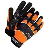 Bob Dale 20-1-10606-XL Mechanics Glove with Synthetic Leather Hi-Viz Fabric, X-Large, Orange/Black