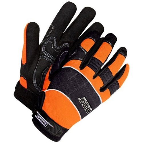 Bob Dale 20-1-10606-XL Mechanics Glove with Synthetic Leather Hi-Viz Fabric, X-Large, Orange/Black