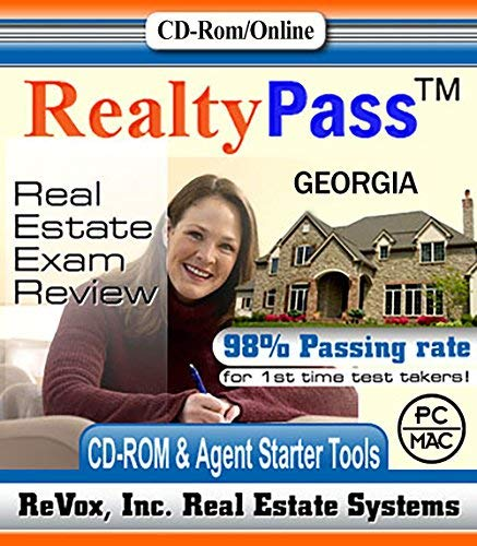2019 Georgia AMP Realty Pass Real Estate Exam Prep Study Guide Questions and Answers Interactive Software