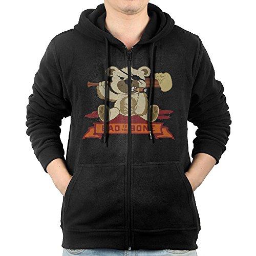ADKKSI Casual Mens Badass Teddy Bear Full-Zip Sweatshirt Hoodie Jacket - Glasses Paul Rudd