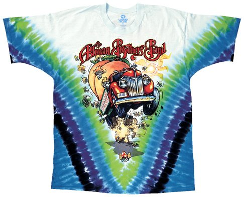 Brothers Allman Merchandise - Liquid Blue Men's Allman Bros Allman Bros V Short Sleeve T-Shirt,Multi,XX-Large
