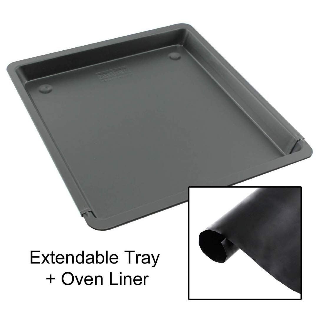 UNIVERSAL Extendable Teflon Oven Baking Tray + Heavy Duty Oven Liner