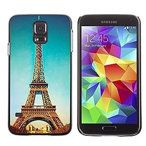 - Paris Eiffel Tower - - Monedero pared Design Premium cuero del tirš®n magnšŠtico delgado del caso de la cubierta pata de ca FOR Samsung Galaxy S5 I9600 G9009 G9008V Funny House