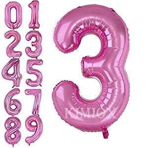 Partyrama Number 3 Pink Supershape Foil Balloon 23 X 34 Inches