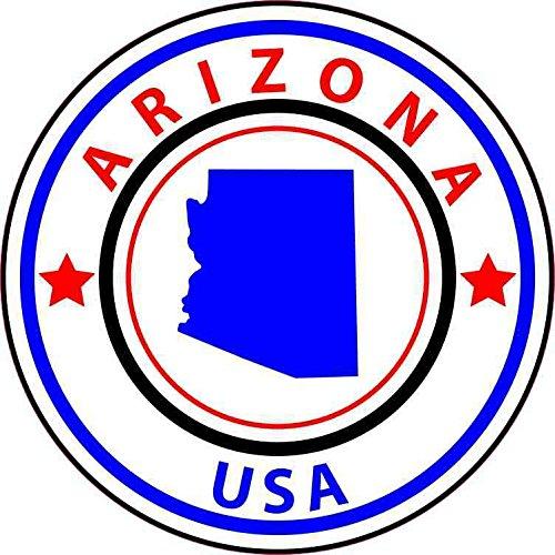 Arizona Circles - StickerTalk 5in x 5in State Circle Arizona Sticker Vinyl Bumper Sticker Sign Decal