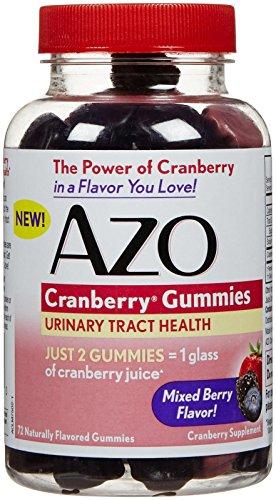 AZO arándano gomitas, cuenta 72