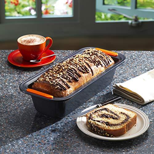 LE CREUSET Molde Plum Cake de Acero al Carbono Gama pâtisserie, Negro, 23 x 13 cm