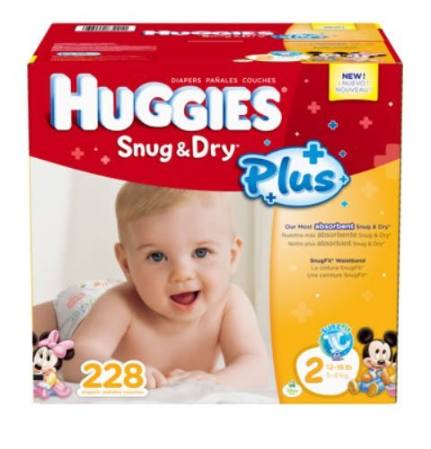 Huggies® Snug & Dry Plus Diapers Size 2(12-18 Lbs); 228 Count by HUGGIES