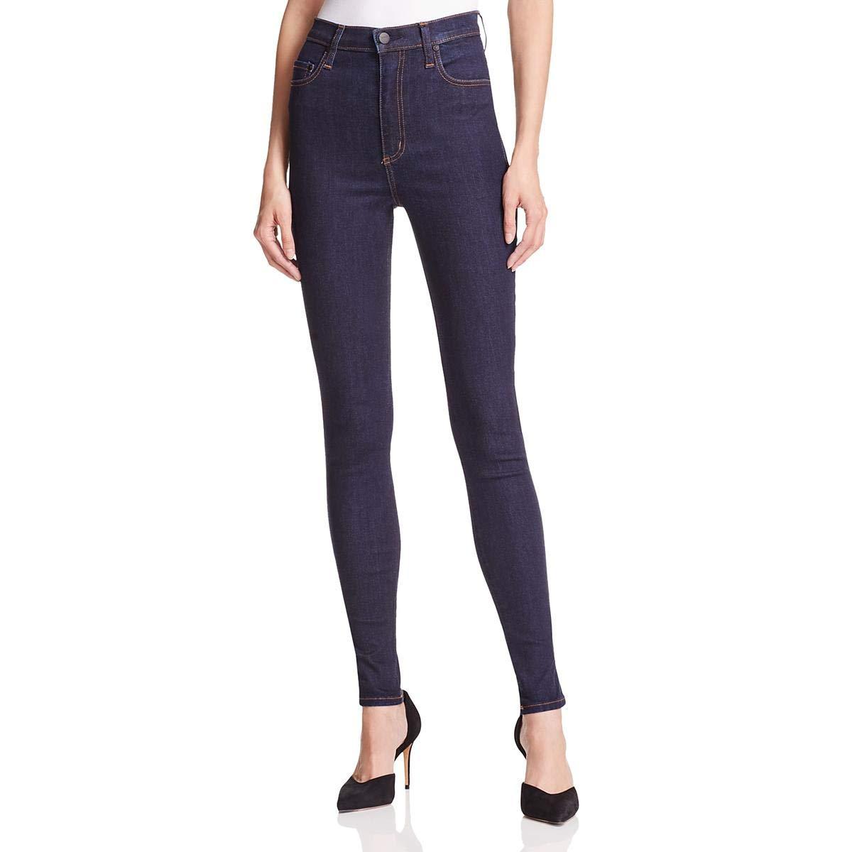 Nobody Womens Siren Super High Rise Ankle Skinny Jeans Blue 25