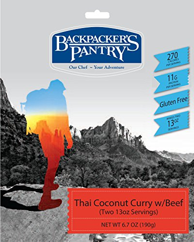 Backpackers Beef Pantry - Backpacker's Pantry Thai Coconut Curry with Beef, Two Serving Pouch