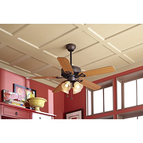 Harbor breeze springfield ii 52 in antique bronze downrod or flush harbor breeze springfield ii 52 in antique bronze downrod or flush mount ceiling fan with light kit amazon aloadofball Choice Image