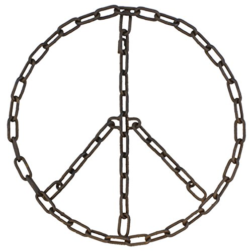 MayRich 16''D Chain Link Peace Sign Wall Decoration