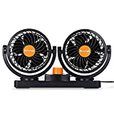 JHD Mitchell 2 Gears 360 Degree Rotating Car Cooling Fan Air Conditioner (Orange)