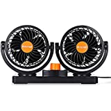 Mitchell Double Fans Combination 360 Degree Rotating Car Cooling Fan Air Conditioner for Cars