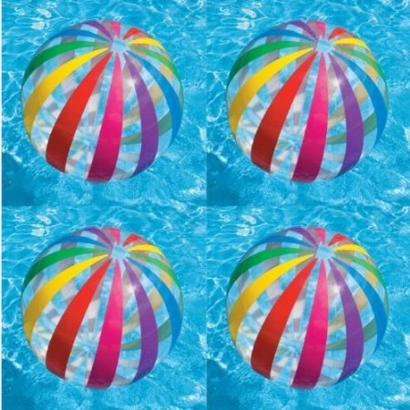 Jumbo Inflatable Big Panel Colorful Giant Beach Ball (Set of 4) | 59065EP  -