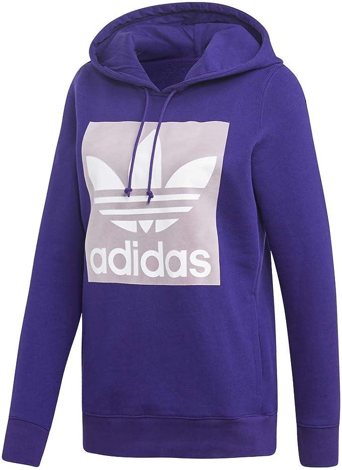 adidas capuche violet Trefoil à Sweat shirt Originals Coton
