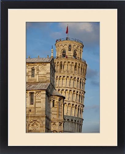 Framed Print of Pisa s Leaning Tower at sunset, Tuscany Italy by Fine Art Storehouse
